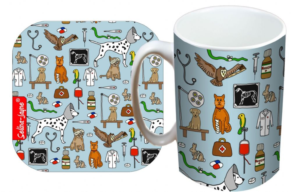 Selina-Jayne Vets Limited Edition Designer Mug and Coaster Gift Set